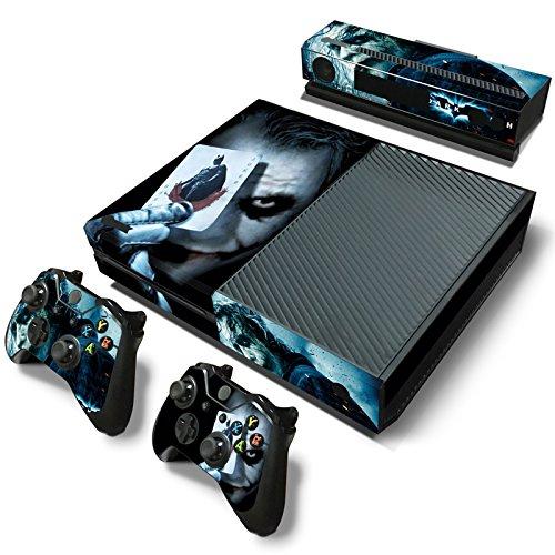 giZmoZ n gadgetZ GNG 4 Xbox ONE Konsolen-Gehäuseaufkleber, Motiv: Joker, inklusive 2er-Set mit Aufklebern für Controller