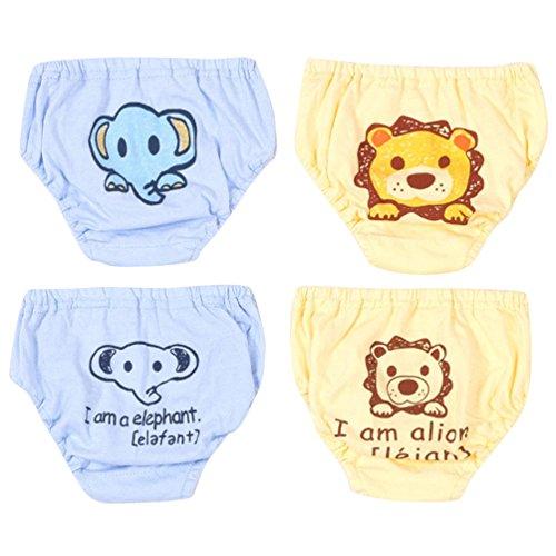 JEELINBORE JEELINBORE Baby Mädchen/Jungen Niedlich Cartoon Knickers Comfortable Panties Briefs Unterhosen Unterwäsche, Multipack | für 1-4 Jahre (Stil2 Jungen(4PCS), 100)