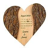Geschenke 24 Holz Herz Schönster Tag: personalisierte Deko mit Gravur - Namen und Datum graviert – Geschenkidee zur Hochzeit,...