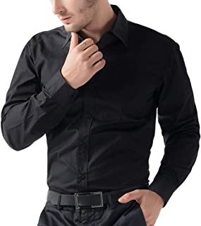 Being fab Mens Casual Shirt(BFBLKSHT0340_Black_40)