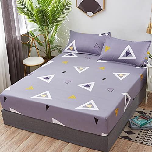 XLMHZP Sábana Ajustable geométrica Sábana Doble Doble Queen Sábanas King Sábana Ajustable con Funda de colchón elástica alrededor13_135x200+25(1pcs)