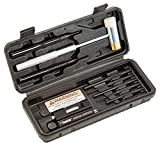 Wheeler Roll Pin Install Tool Kit with Trigger Install Tool, Punches, Brass/Polymer Hammer and Storage Case for Gunsmithing and Firearm Maintenance