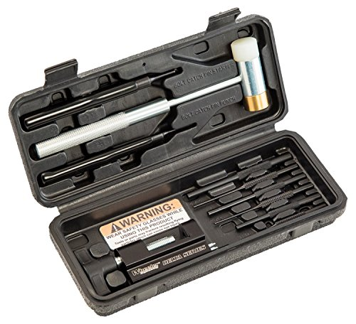 Wheeler Roll Pin Install Tool Kit with Trigger Install Tool, Firearm Punches, Brass Polymer Hammer and Storage Case for Gunsmithing Maintenance