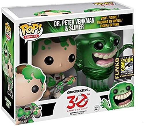 Ghostbusters POP  Dr. Peter Venkman & Slimer Figuren SDCC2014 Exclusive 10 cm