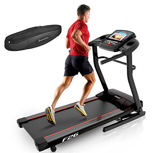 Sportstech F31 Professional Treadmill With Smartphone App Control MP3 AUX Bluetooth 4PS 16km/h - With Innovative Self-Lubrication Function - Foldable And Space-Saving Storage (F26)