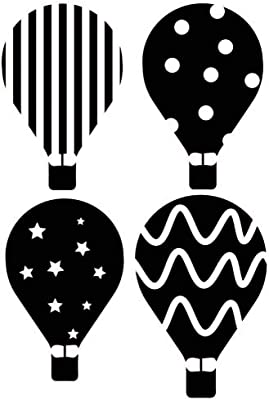 GADGETS WRAP Hot Air Balloon Vinyl Wall Stickers Set Transport Wall Decal, AG20-DRP-4127