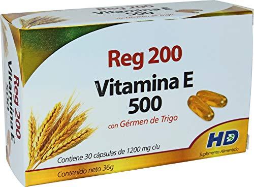 Vitamina E 500 Laboratorios HD Morelia con Germen de Trigo - 30 Cápsulas, 36 g