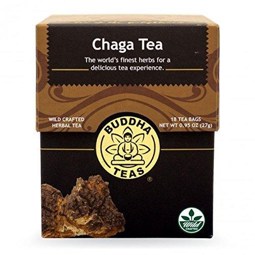 Chaga Tea - Organic Herbs - 18 Bleach Free Tea Bags by Buddha Teas