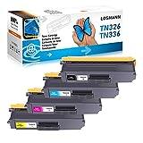 LOSMANN 4x Toner Compatible con TN-336 TN-326 para Brother DCP-L8400CDN DCP-L8450CDW HL-L8250CDN HL-L8300 Serie HL-L8350CDW HL-L8350CDWT MFC-L8600CDW MFC-L8650CDW MFC-L8850CDW TN-321
