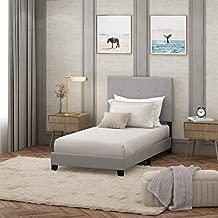 FURINNO Laval Button Tufted Upholstered Platform Bed - Twin (Glacier)