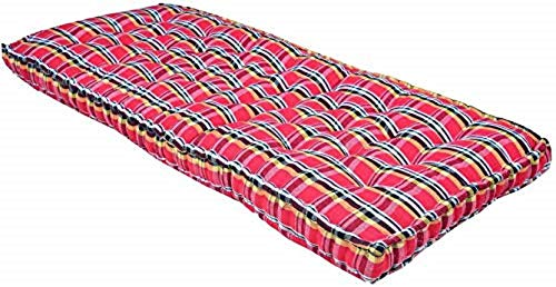 ATOOTFUSION Soft Cotton Multicolour Mattress | Cotton Gadda (Box Rectangle Type 3 x 6 ft OR 72 x 36 inch)