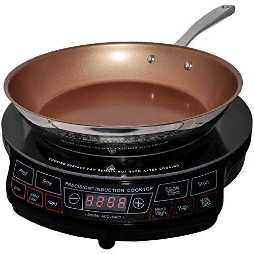 NuWave Portable Induction Cooktop & 10.5 Inch Pan (Renewed)