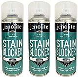 3 x JENOLITE Pinturas Antimanchas Spray - Pintura Anti-condensación y Anti-moho para Interior y Exterior - Blanco - 400ml