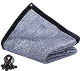 reshare Filet d'Ombrage 85% Aluminium Voile pour Serres Abris de Chien Réfléchissant Rafraîchissant avec Tendeurs Elastiques - 4m x 4.88m