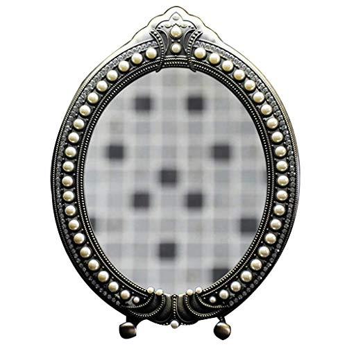 JKCKHA Llevado Espejo de Maquillaje Espejo de Maquillaje Maquillaje Espejo, montado en la Pared Punchfree Espejo de baño Dormitorio Armario Puerta Plegable Impermeable HD Maquillaje Espejo Decoración