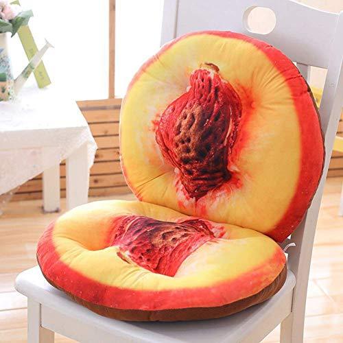 Dining Chair Cushions 3D Zipper Stitching Fruit Chair Cushion Back Cushion, Soft Velvet Fabric PP Cotton High Back Chair Cushion for Home Office Sofa Furniture Cushions 40x80cm, Peach