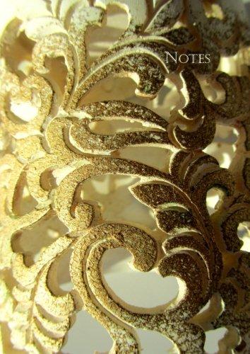 Notizbuch A4 - kariert - Golden Ornament: DIN A4 - Tagebuch