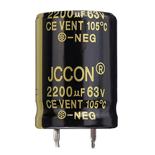 Modulo electronico Aluminio Radial 2200uF 63V 22x30mm condensador electrolítico de alta frecuencia de 105 ° C (3 piezas)