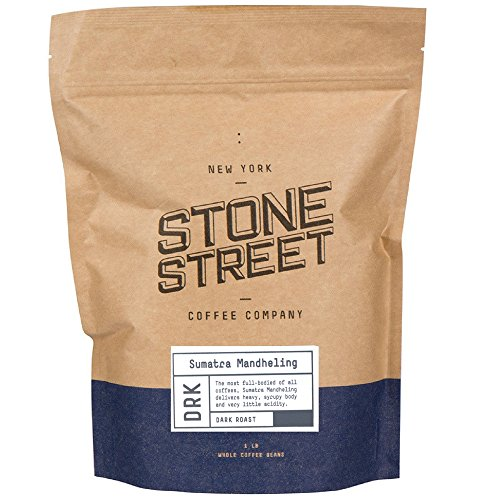 INDONESIAN SUMATRA MANDHELING | Dark Roast | 1 LB Whole Bean Coffee | Small Batch Roasted in Brooklyn | Naturally Processed 100% Arabica | Full Body,