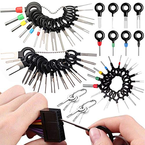 Vignee 60pcs Terminal Removal Tool kit,Pins Terminals Puller Repair Removal Tools for Car Pin Extractor Electrical Wiring Crimp Connectors,Key Extractor Connector Depinning Tool Set