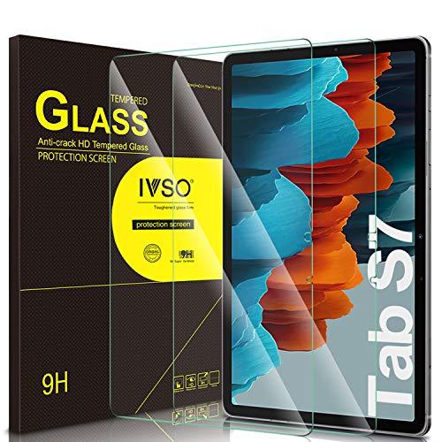 IVSO Pellicola Protettiva per Samsung Galaxy Tab S7, per Samsung Galaxy Tab S7 11 Pellicola, Pellicola Protettiva Schermo in Vetro Temperato per Samsung Galaxy Tab S7 (SM-T870/875) 11 2020, 2 Pack