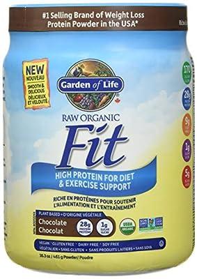 Garden of Life Raw Organic Fit Chocolate Protein Shake Vegan Plant Based 461g