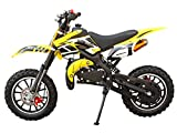 SYX MOTO Kids Mini Dirt Bike Gas Power 2-Stroke 50cc Motorcycle Holeshot Off Road Motorcycle Holeshot Pit Bike, Fully Automatic Transmission, Yellow