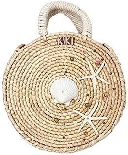 Kiki Boho   Estrella de Mar Sunbag, bolsa de palma guano con dos estrellas de mar, una concha y piedras