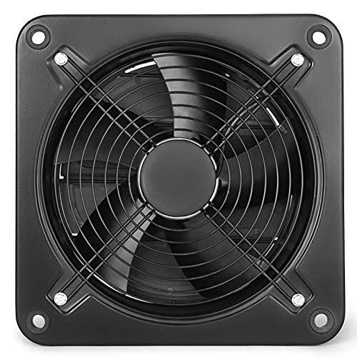 OIdFe Badlüfter 250 mm / 300 mm Abluftventilator 220V Axialventilator 2580 U / min Wandlüfter Ventilator für Dachboden, Badezimmer, Küche (300 mm)