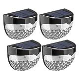 Oulian 8 Stück LED Solarleuchte mit 6 LED-Lampen, Outdoor Solar Wandleuchte, Gartenleuchte, Zaunbeleuchtung Solar LED, Wasserdicht für Haus, Zaun, Schuppen, Treppe, Garten Deko und Außenbereich