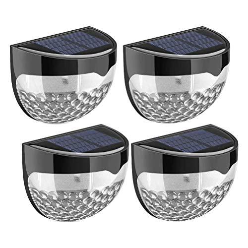 Delaspe Solar-Zaunlichter, 6 Leds, Wasserdicht, Dekorative Lichter, 8 StüCk Black