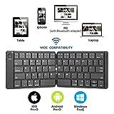 Tastiera pieghevole Bluetooth Tastiera wireless portatile di dimensioni standard per iPhone, IPad Air, iPad Mini, iPad Pro, Windows, IOS, Android