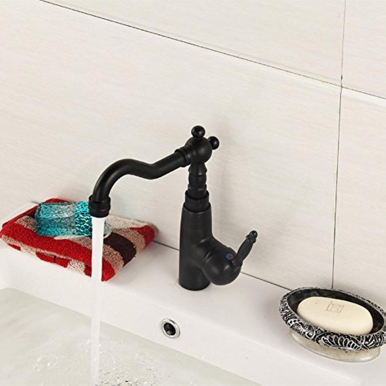 Neu Produkt Schwarz Badezimmer Waschbecken Wasserhahn mit einem Griff aus massivem Messing Badezimmer Waschbecken Wasserhahn