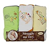 Wild Animal Hooded Bath Towel Set, 3 Pack, Boy or Girl, Frenchie Mini Couture