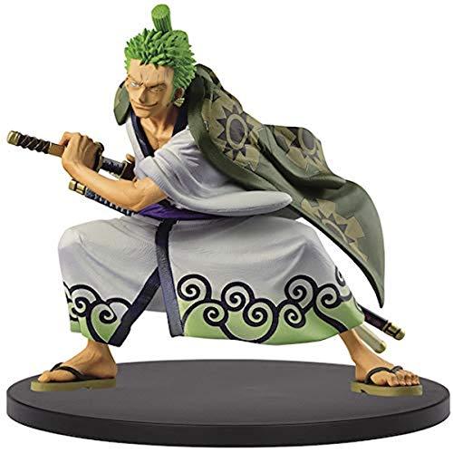 Banpresto One Piece King of Artist The Roronoa Zoro Wanokuni Figure, multicolore