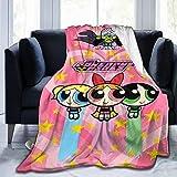 The-Powerpuff-Girls Blanket Cartoon Throw Blankets Ultra Soft Plush Blanket for Couch Beding All Season 60'X50'