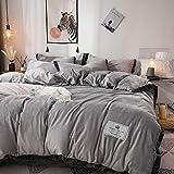 Juego de ropa de cama con funda de edredón-Terciopelo de cristal engrosado de cuatro piezas funda nórdica de franela de...