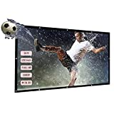 Docooler H150 150 Inch Portable Projector Screen HD 16:9 White Mounted Diagonal Projection Screen Foldable...
