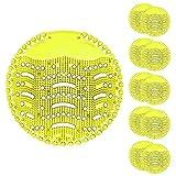 TZL Urinalsieb mit Duft 10 Stk, Universal Urinal Einsatz Mit Spritzschutz,Pissoirsiebfür jedes Pissoir und Urinal,Lufterfrischer (Yellow-10pack)