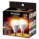 パナソニック LED電球 プレミア 口金直径17mm 電球60W形相当 電球色相当(7.2W) 小型電球・全方向タイプ 2個入り 密閉形器具対応 LDA7LGE17Z60ESW22T