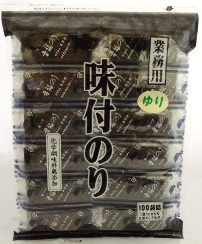 ��岡屋 業務用 味付のり(ゆり) 化学調味料無添加 100袋詰