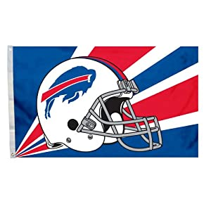 Fremont Die NFL Buffalo Bills 3' x 5' Flag with Grommets, 3 x 5-Foot, Helmet