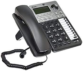 AT&T ML17939 2-Line Corded Telephone with Digital Answering System and Caller ID/Call Waiting Black/Silver
