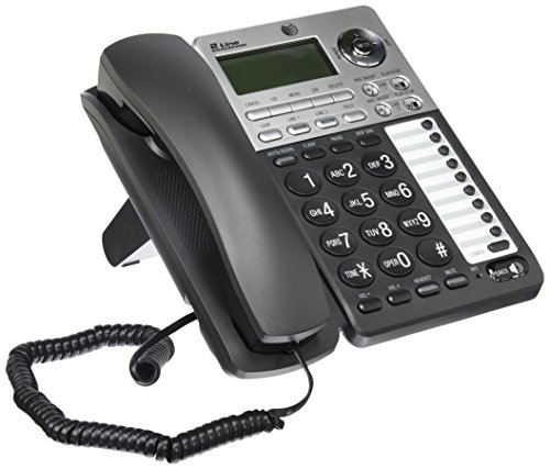 AT&T ML17939 2-Line Corded Telephone with Digital Answering System and Caller ID/Call Waiting, Black/Silver