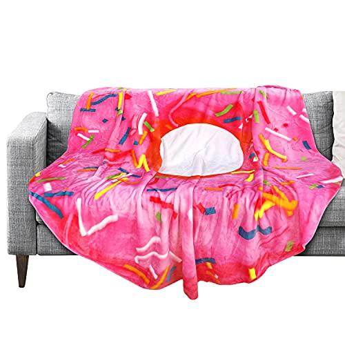 63' Novelty Fleece Bed Blanket Burritos Throw Cozy Plush Food Blanket for Bedroom Living Rooms Sofa...