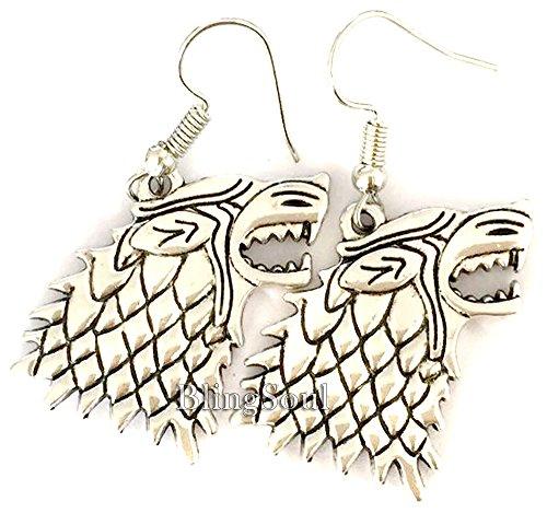 Game Merchandise Jewelry - Stark Earrings for Women