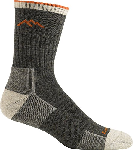 Darn Tough Hiker Micro Crew Cushion 1466-OLIVE Wool Mens Socks - Olive - 43-45