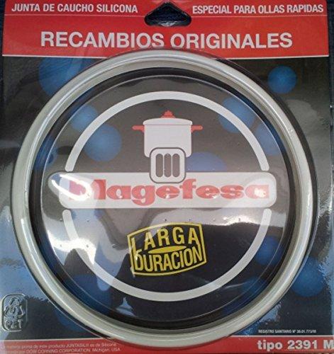 Desconocido Magefesa Junta de Olla, Silicona, Blanco, 22 cm