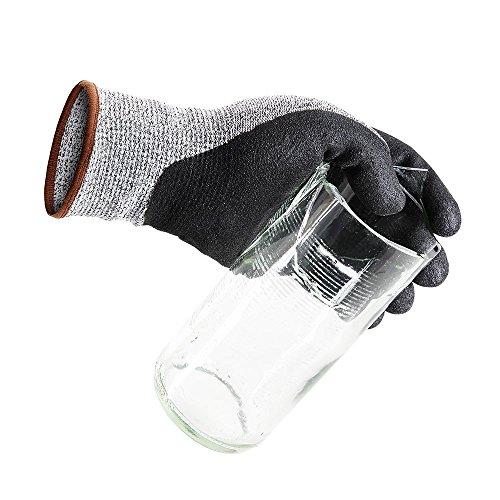 Schnittschutzhandschuhe, Level 5 Schutz, Lebensmittelqualität, EN388 zertifiziert, Sicherheit Handschuhe für hand Schutz und yard-work, Küche Handschuh für Schneiden von und zum, 1 Paar