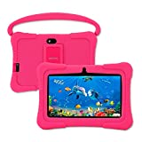 Kids Tablet, Veidoo Educational 7 inch Android Tablet PC, Children Tablet with GMS Certified, Android 10, WiFi, Dual Camera, HD Display, Parental Control APP, Learning Tablets for Kids (Pink)